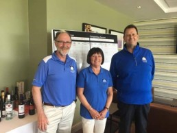 Jeff and Anna Morris and Neil Emmerson from Chartham Park Golf & Country Club
