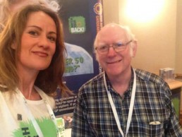 Michael Searle and Michelle Baker at the Melanoma Patient Conference in 2016